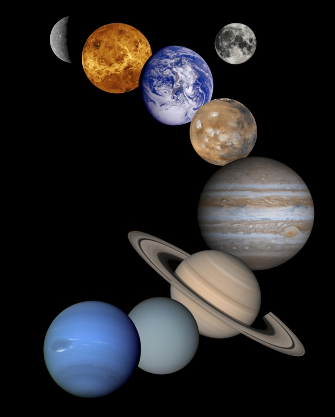 NASA composite of planets - JPL